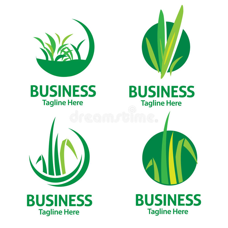 Lawn care logo royalty free illustration