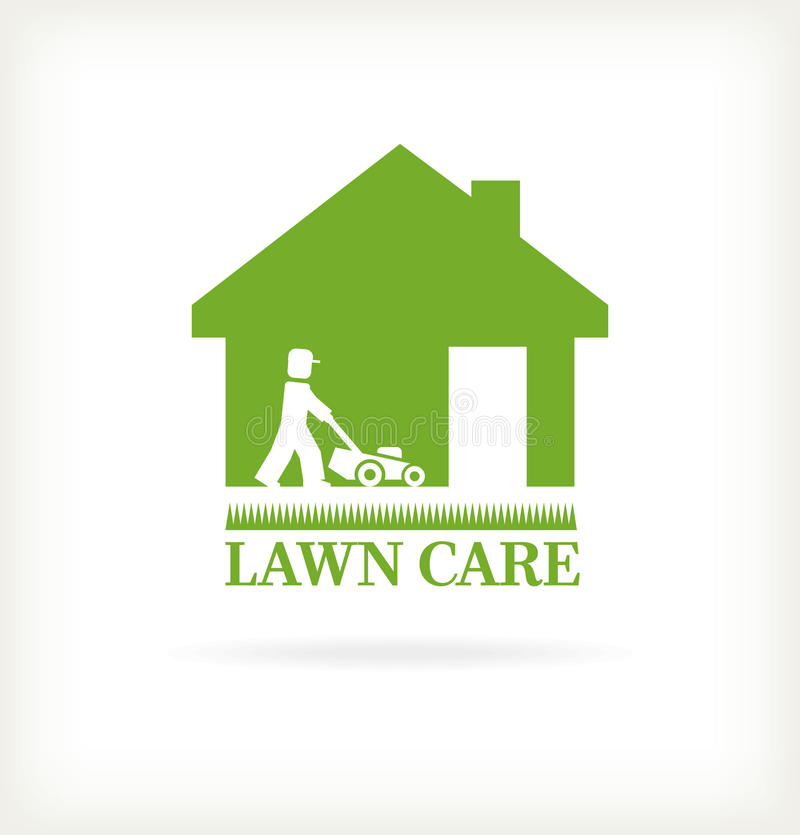 Lawn care symbol royalty free illustration