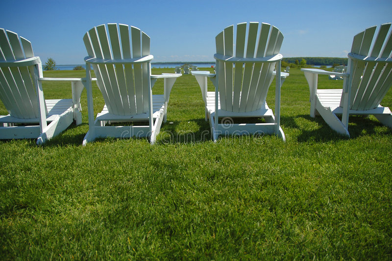 Lawn Chairs royalty free stock photography