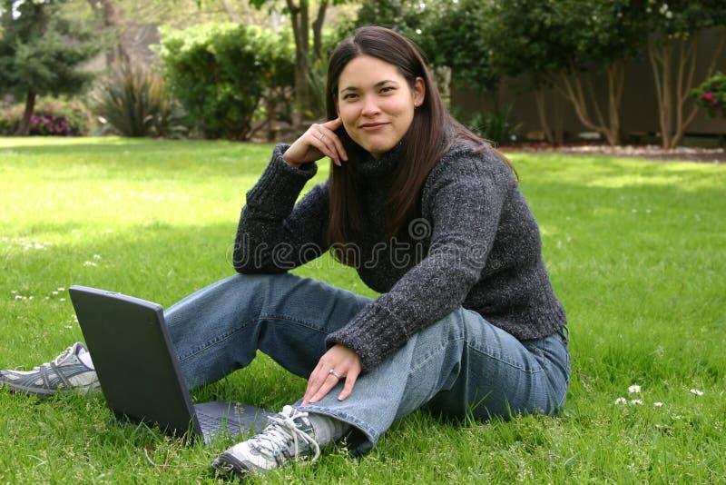 Lawn Computing royalty free stock photos