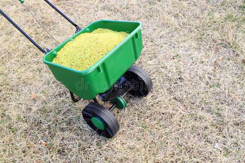 Download Lawn fertilizer stock image. Image of spreader, control - 18544867