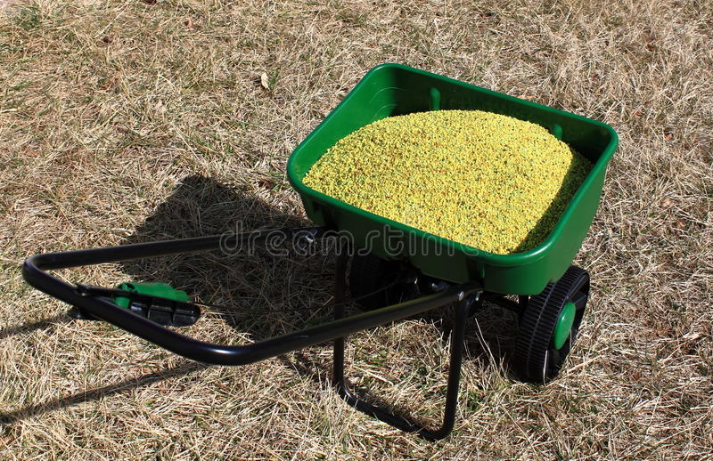 Download Lawn Fertilizer Spreader stock image. Image of care, lawn - 18551189
