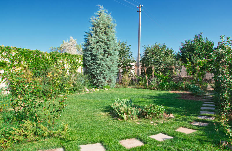 Download Lawn In Garden Stock Photos - Image: 25969073