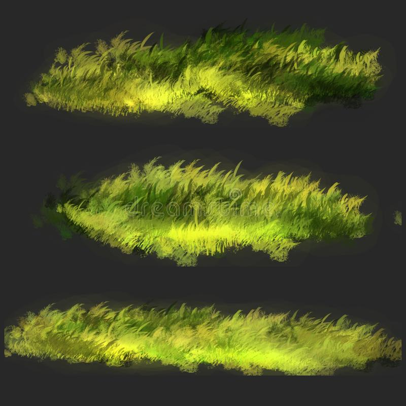 Lawn grass illustration. The illustration is made in Photoshop stock illustration