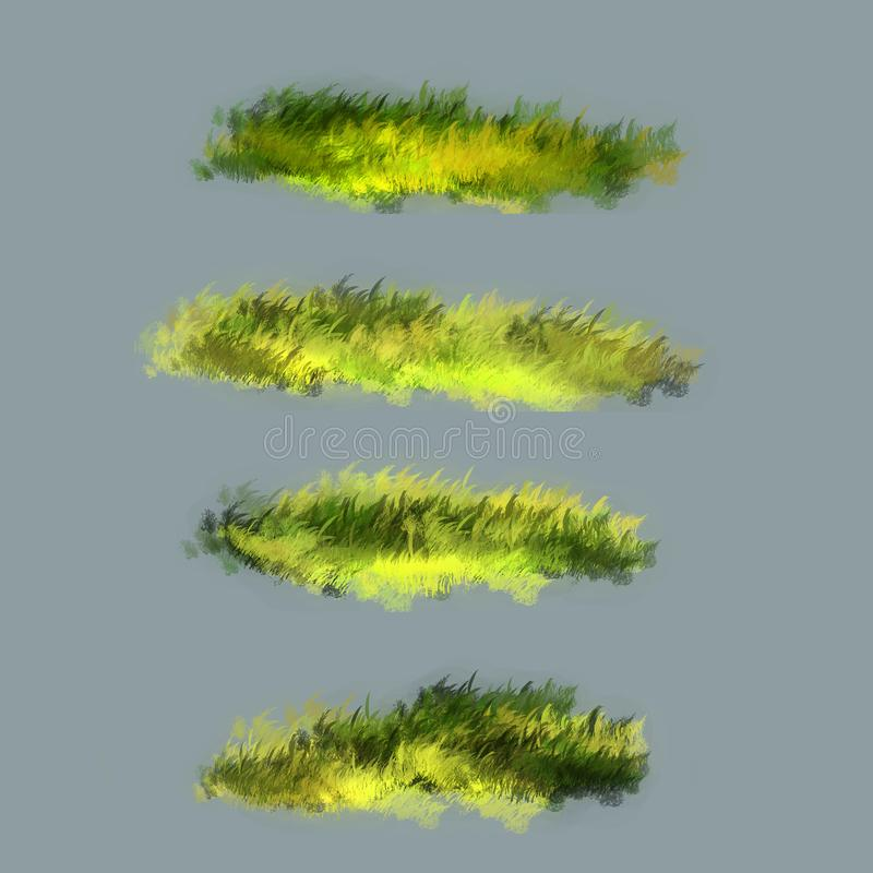Lawn grass illustration. The illustration is made in Photoshop royalty free illustration