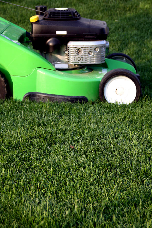Lawn grass mower stock photos