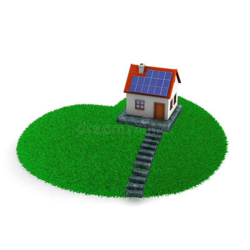 Download Lawn Heart House stock illustration. Image of gras, lawn - 28797845