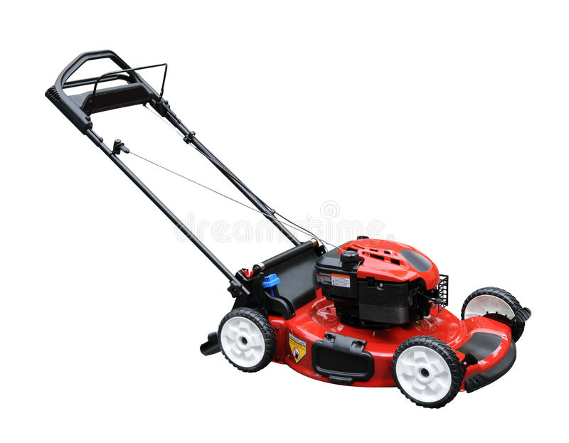 Lawn Mower. Isolated over white background royalty free stock photos