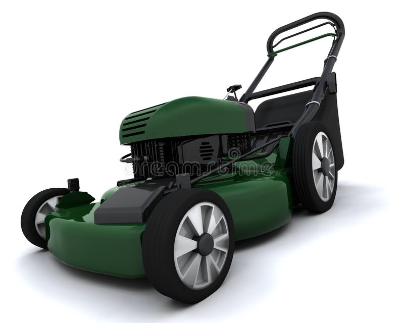 Lawn mower stock illustration
