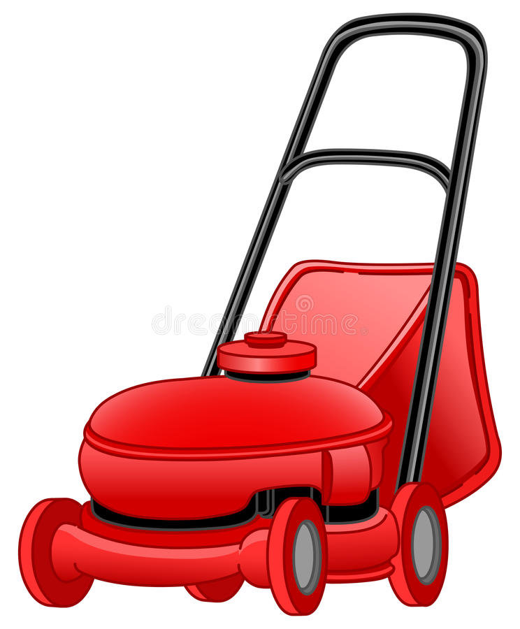 Lawn mower. Illustration of a lawn mower vector illustration