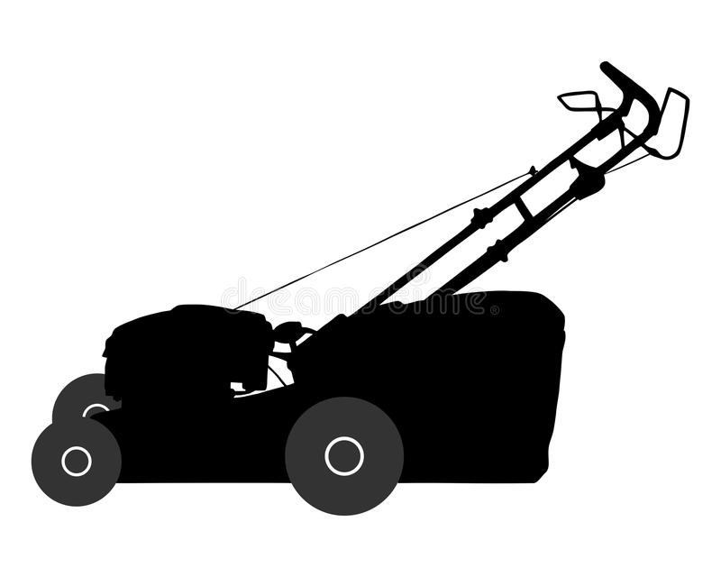 Lawn-mower. Detailed and accurate illustration of lawn-mower royalty free illustration