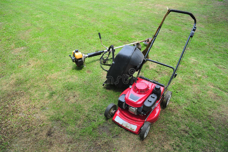 Lawn Mower. In the Grass royalty free stock image