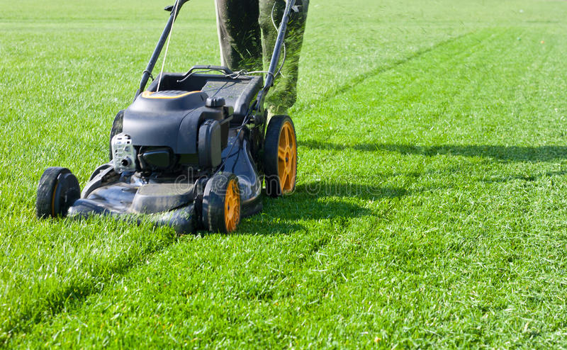 Lawn mower. Mower, grass, equipment, mowing stock images