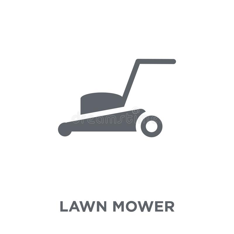 Lawn mower icon from Agriculture, Farming and Gardening collection. Lawn mower icon. Lawn mower design concept from Agriculture, Farming and Gardening vector illustration