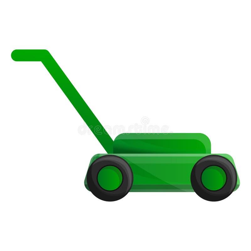 Lawn mower icon, cartoon style. Lawn mower icon. Cartoon of lawn mower vector icon for web design isolated on white background stock illustration