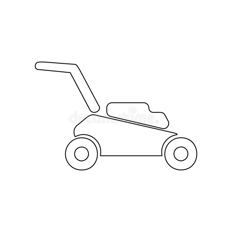 Lawn mower icon. Element of Garden for mobile concept and web apps icon. Outline, thin line icon for website design and. Development, app development on white vector illustration