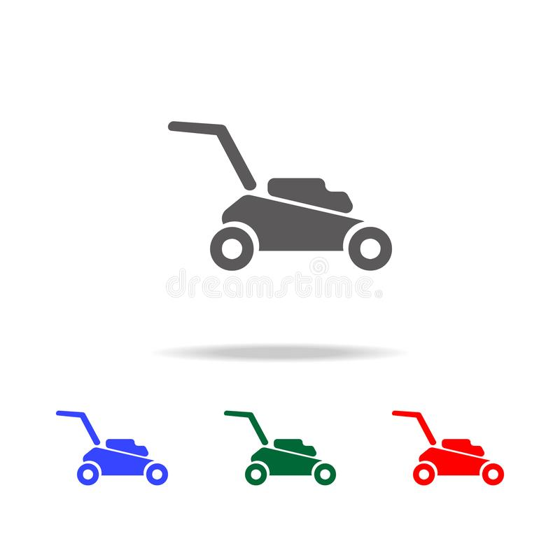 Lawn mower icon. Elements of garden in multi colored icons. Premium quality graphic design icon. Simple icon for websites, web. Design, mobile app, info vector illustration