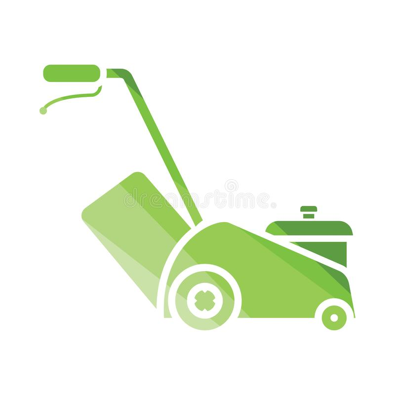 Lawn mower icon. Flat color design. Vector illustration vector illustration