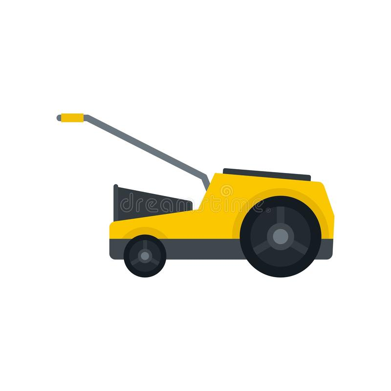 Lawn mower icon, flat style vector illustration