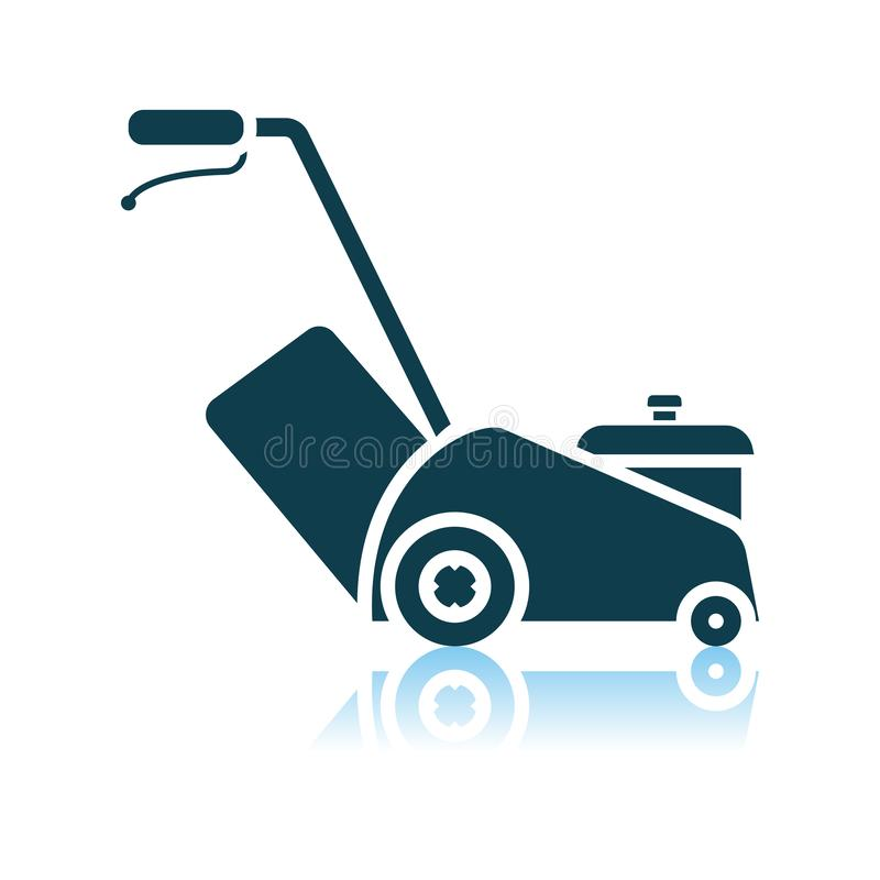 Lawn Mower Icon. Shadow Reflection Design. Vector Illustration royalty free illustration
