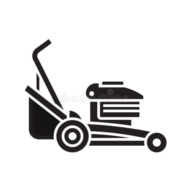Lawn Mower Icon stock illustration