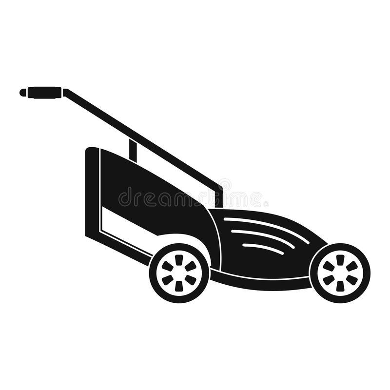 Lawn mower icon, simple style. Lawn mower icon. Simple illustration of lawn mower vector icon for web design isolated on white background royalty free illustration