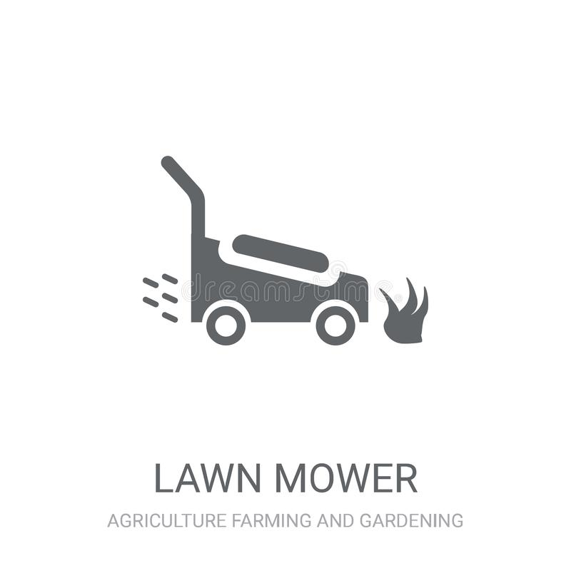 Lawn mower icon. Trendy Lawn mower logo concept on white background from Agriculture Farming and Gardening collection. Suitable for use on web apps, mobile royalty free illustration