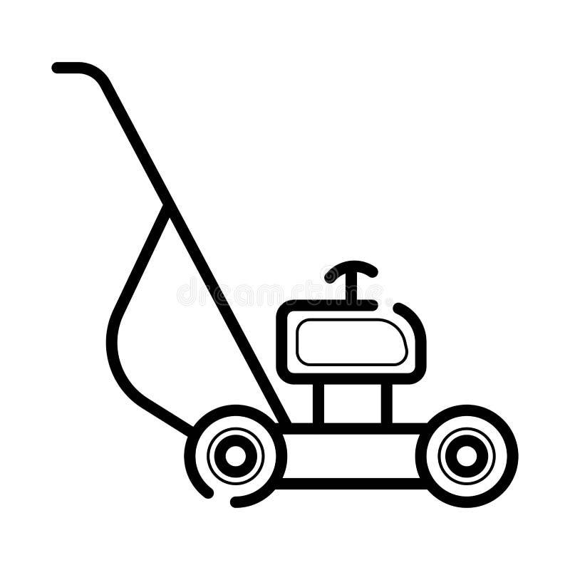 Lawn mower icon, vector stock illustration