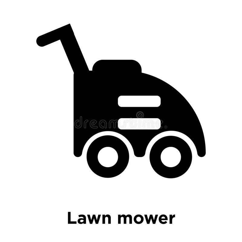 Lawn mower icon vector isolated on white background, logo concept of Lawn mower sign on transparent background, black filled. Lawn mower icon vector isolated on vector illustration