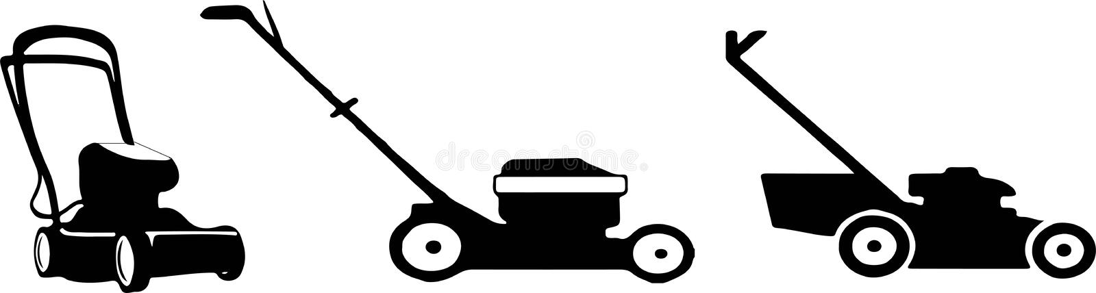 Lawn mower icon on white background. Lawn,machine,mower stock illustration