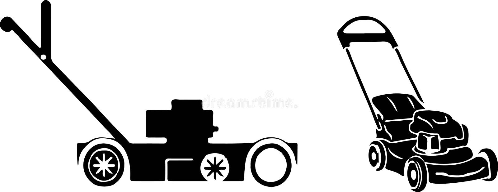 Lawn mower icon on white background. Lawn,machine,mower royalty free illustration