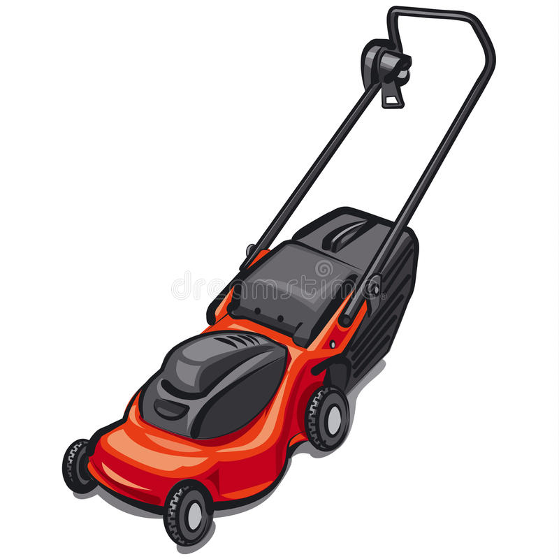 Lawn mower. Illustration of the lawn mower vector illustration