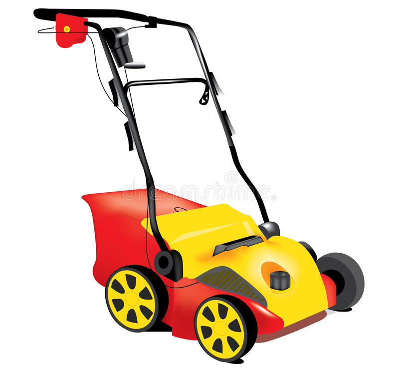 Lawn mower. Illustration of electric lawn mower vector illustration