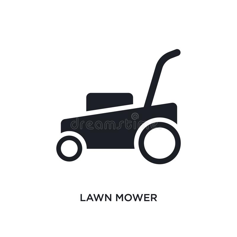 lawn mower isolated icon. simple element illustration from cleaning concept icons. lawn mower editable logo sign symbol design on stock illustration