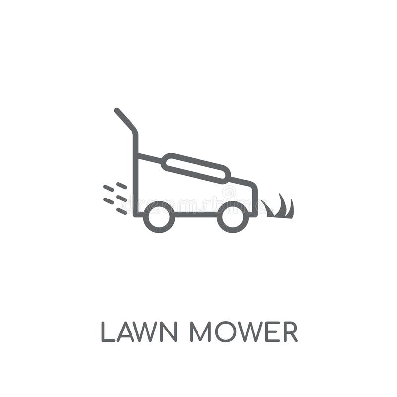 Lawn mower linear icon. Modern outline Lawn mower logo concept o royalty free illustration