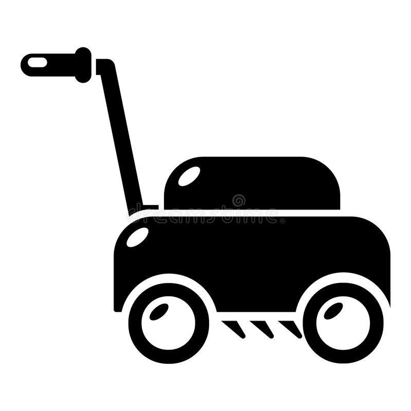 Lawn mower machine icon , simple style stock illustration
