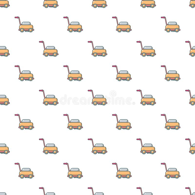 Lawn mower machine pattern seamless stock illustration