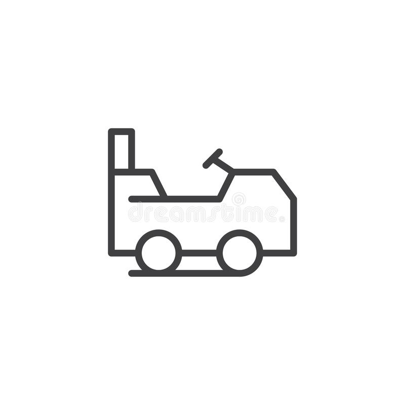 Lawn mower outline icon stock illustration