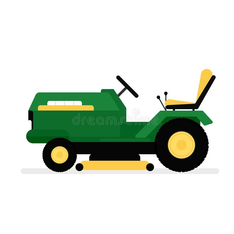 Lawn mower riding icon vector illustration