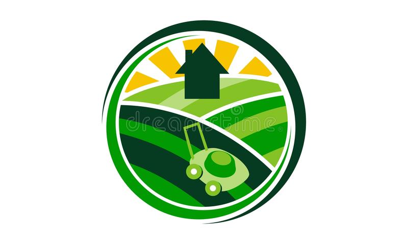 Lawn Mower Service vector illustration