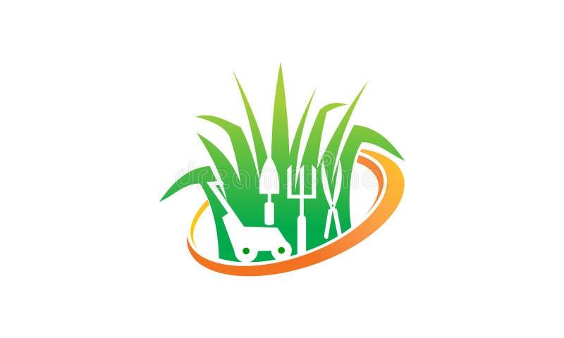 Lawn Mower Service. Logo Design Template Vector royalty free illustration