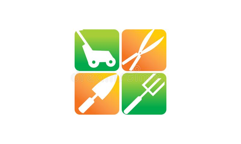 Lawn Mower Service stock illustration