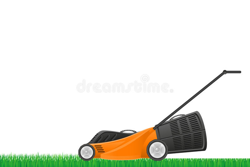 Lawn mower stock vector illustration. Isolated on white background vector illustration