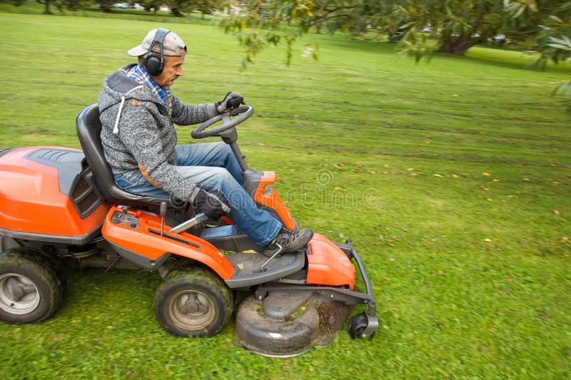 Lawn mower tractor royalty free stock photography
