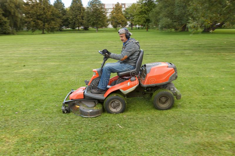 Lawn mower tractor stock photos