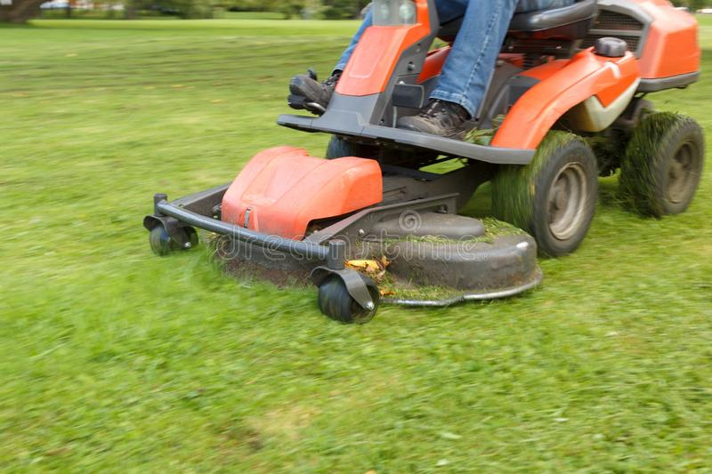 Lawn mower tractor stock images