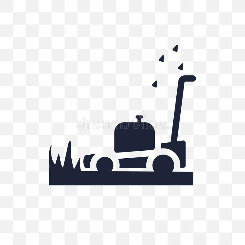 Lawn mower transparent icon. Lawn mower symbol design from Agriculture, Farming and Gardening collection. royalty free illustration