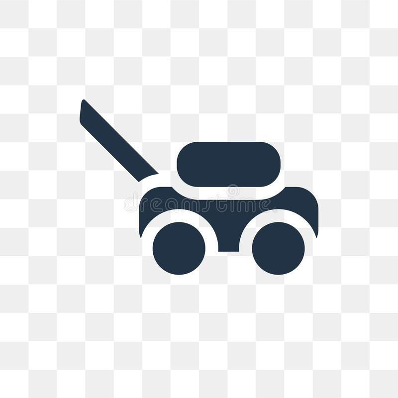 Lawn mower vector icon isolated on transparent background, Lawn. Mower transparency concept can be used web and mobile, Lawn mower icon royalty free illustration
