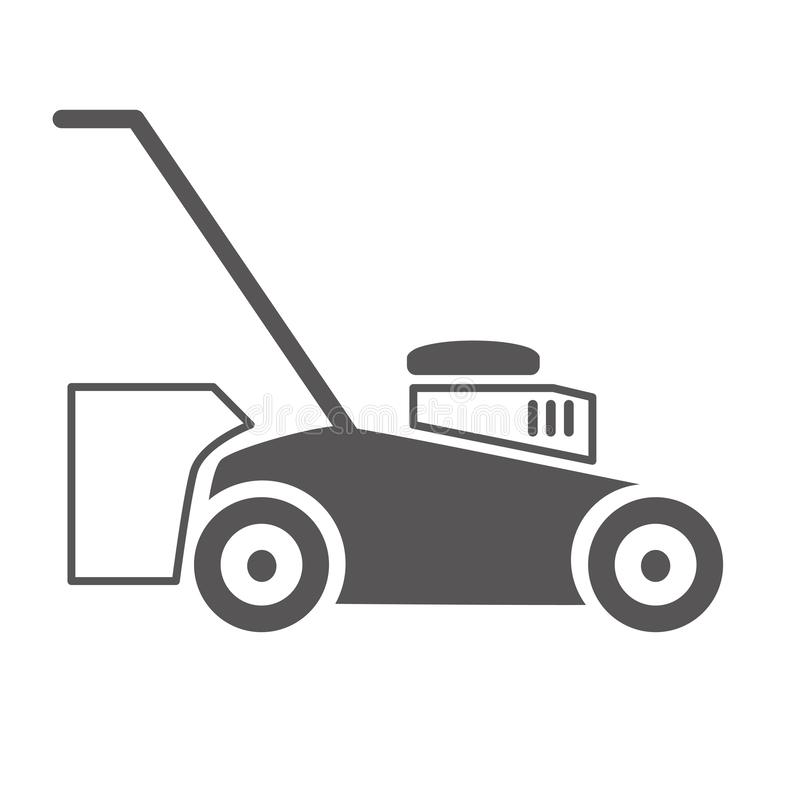 Lawn mower vector illustration icon royalty free illustration