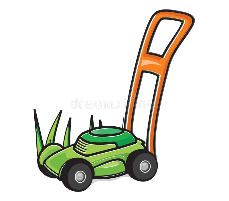 Lawn Mower. Vector illustrations of the Lawn Mower stock illustration